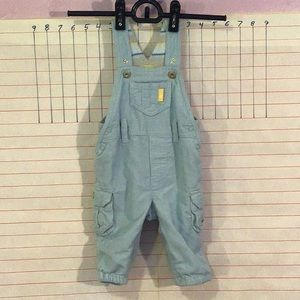 H&M  adjustable overalls  sz 2-4 mo  light blue